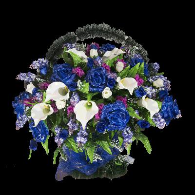 Корзина элитная из искусственных цветов КЭИ-42