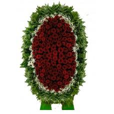 Венок из живых цветов ВЖ-124