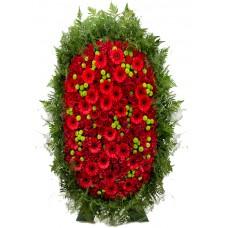 Венок из живых цветов ВЖ-126
