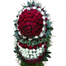 Венок из живых цветов ВЖ-98