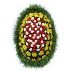 Ритуальный Венок из живых цветов ВЖ-41