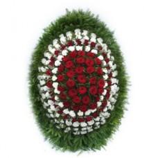 Ритуальный Венок из живых цветов ВЖ-34