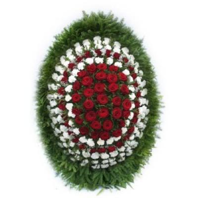 Венок из живых цветов ВЖ-34