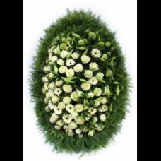 Венок из живых цветов ВЖ-129