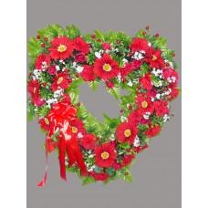 Венок из искусственных цветов в виде сердца ВСИ-01
