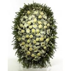 Венок из живых цветов ВЖ-134