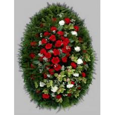 Ритуальный Венок из живых цветов ВЖ-10