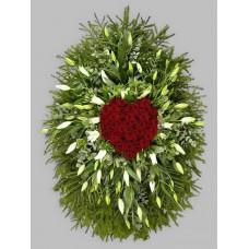 Ритуальный Венок из живых цветов ВЖ-11