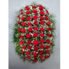 Ритуальный Венок из живых цветов ВЖ-12