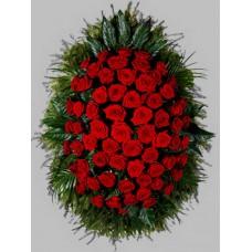 Ритуальный Венок из живых цветов ВЖ-14