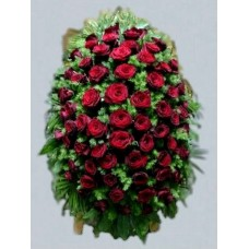 Ритуальный Венок из живых цветов ВЖ-15