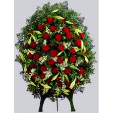 Ритуальный Венок из живых цветов ВЖ-16