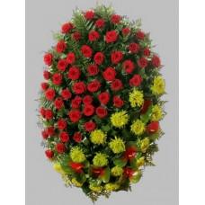 Ритуальный Венок из живых цветов ВЖ-17