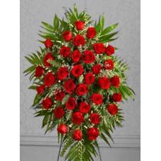 Ритуальный Венок из живых цветов ВЖ-18