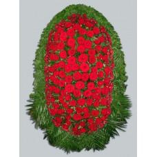 Ритуальный Венок из живых цветов ВЖ-20