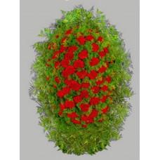 Ритуальный Венок из живых цветов ВЖ-21