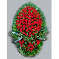 Ритуальный Венок из живых цветов ВЖ-23