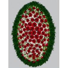 Ритуальный Венок из живых цветов ВЖ-24