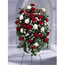 Ритуальный Венок из живых цветов ВЖ-25