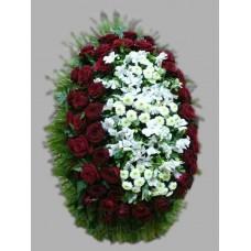 Ритуальный Венок из живых цветов ВЖ-26