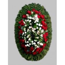 Ритуальный Венок из живых цветов ВЖ-28