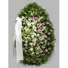 Ритуальный Венок из живых цветов ВЖ-29