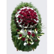 Ритуальный Венок из живых цветов ВЖ-31
