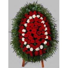 Ритуальный Венок из живых цветов ВЖ-33