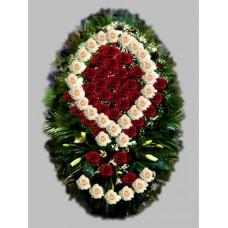 Ритуальный Венок из живых цветов ВЖ-36