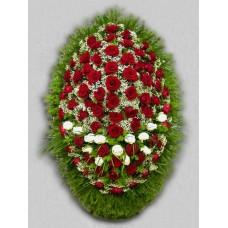Ритуальный Венок из живых цветов ВЖ-38