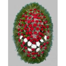 Ритуальный Венок из живых цветов ВЖ-39