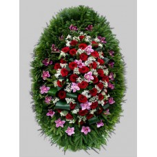 Ритуальный Венок из живых цветов ВЖ-40