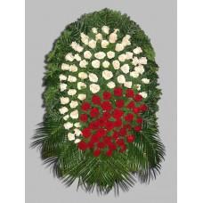 Ритуальный Венок из живых цветов ВЖ-43