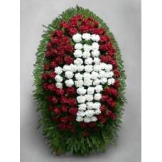 Ритуальный Венок из живых цветов ВЖ-44