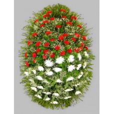 Ритуальный Венок из живых цветов ВЖ-45