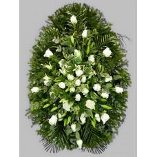 Ритуальный Венок из живых цветов ВЖ-47