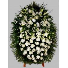 Ритуальный Венок из живых цветов ВЖ-48