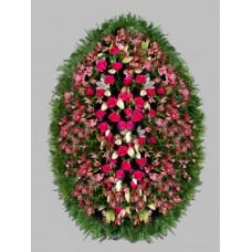 Ритуальный Венок из живых цветов ВЖ-49