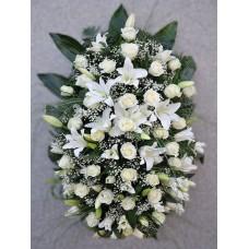 Ритуальный Венок из живых цветов ВЖ-51