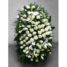 Ритуальный Венок из живых цветов ВЖ-52
