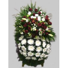 Ритуальный Венок из живых цветов ВЖ-53