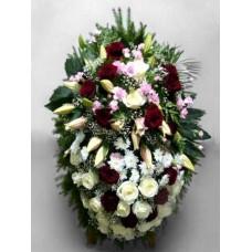 Ритуальный Венок из живых цветов ВЖ-54