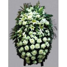 Ритуальный Венок из живых цветов ВЖ-55