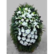 Ритуальный Венок из живых цветов ВЖ-56