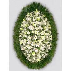 Ритуальный Венок из живых цветов ВЖ-57