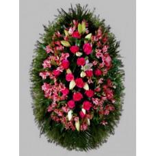 Ритуальный Венок из живых цветов ВЖ-58