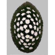 Ритуальный Венок из живых цветов ВЖ-59