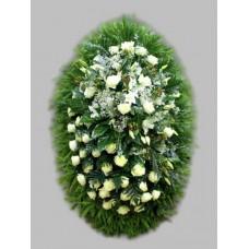 Ритуальный Венок из живых цветов ВЖ-60