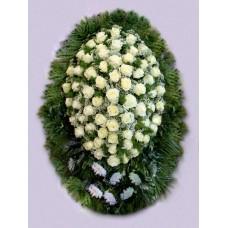 Ритуальный Венок из живых цветов ВЖ-61