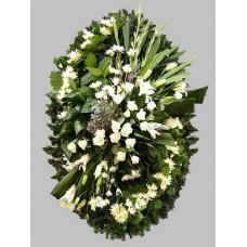 Ритуальный Венок из живых цветов ВЖ-62